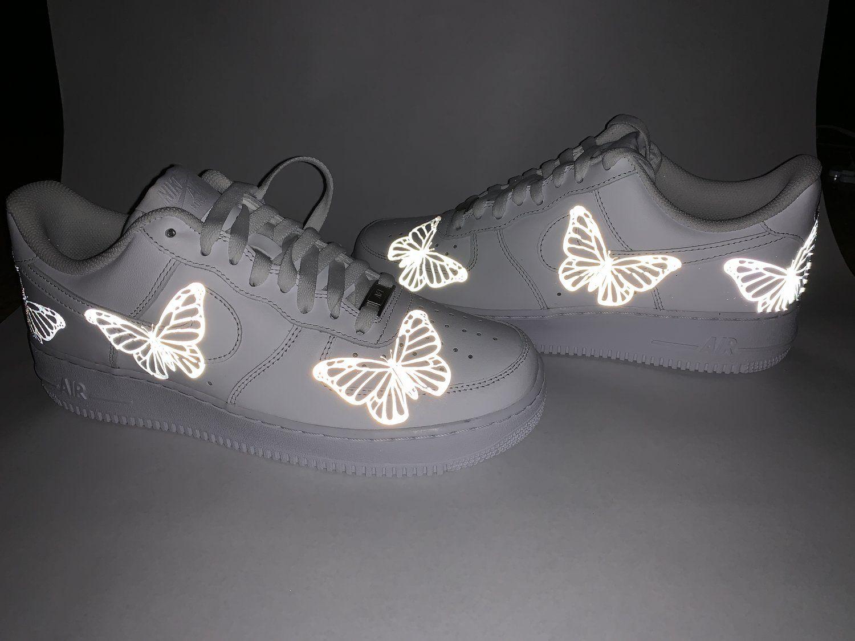 Reflective Butterfly AF1 — AF1.LA Custom nike shoes