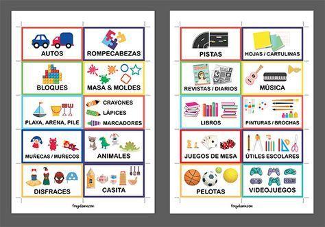 Etiquetas para organizar juguetes (imprimibles gratis!) y 6 consejos ...
