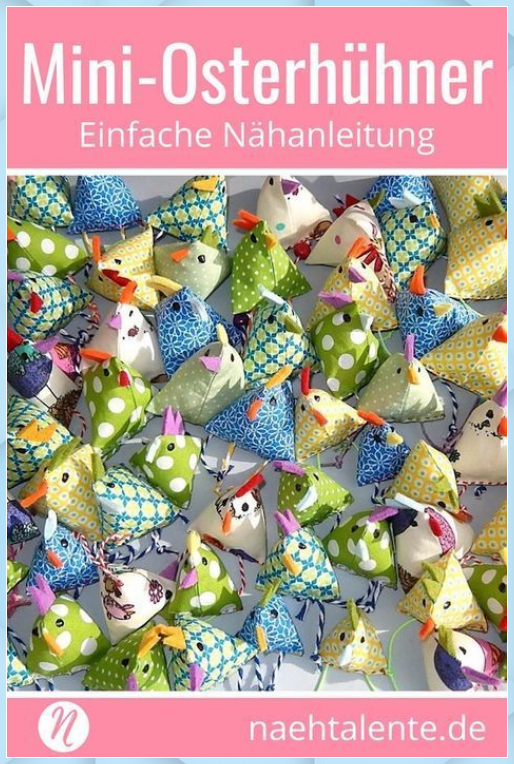 Photo of Mini Easter chickens | Free sewing instructions Sewing talents – Easter decoration garden …