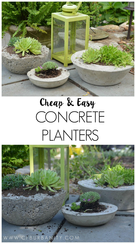 Diy Concrete Garden Planters Concrete Garden Garden Planters