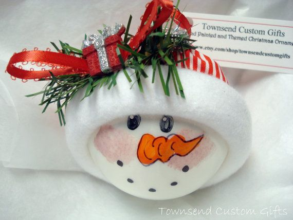 Snowman #Ornament $1295 Christmas Ornaments Pinterest Snowman