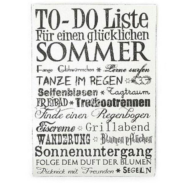 Warum eigentlich To-Do Liste für den #sommer? Wollen wir ...