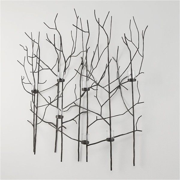 Crate Barrel Twiggy Metal Wall Candle Holder 189 Liked On