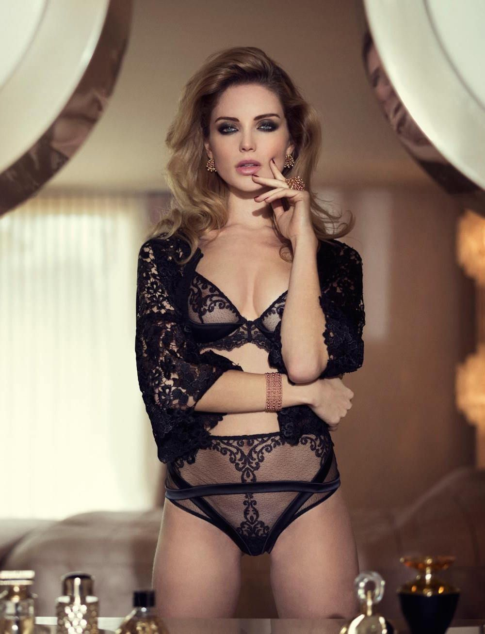 Mélissa Gateau Fashion Model Sexy Lingerie in La Perla Campaign 2015  Photoshoots 638175eb3