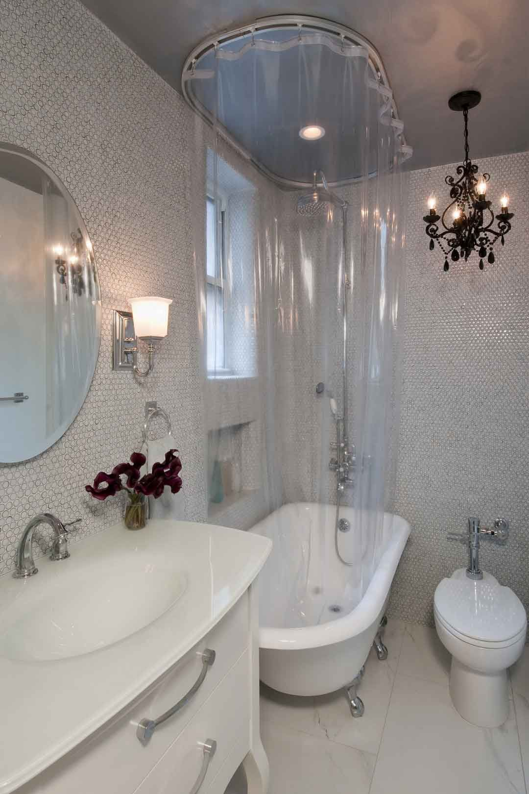 Bathroom Design : Dreamy Small Bathroom Design With White Vanity And ...