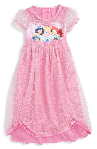 Princess Nightgowns for Girls Kids Nighties Sleepwear Toddler Pajamas Nightdress