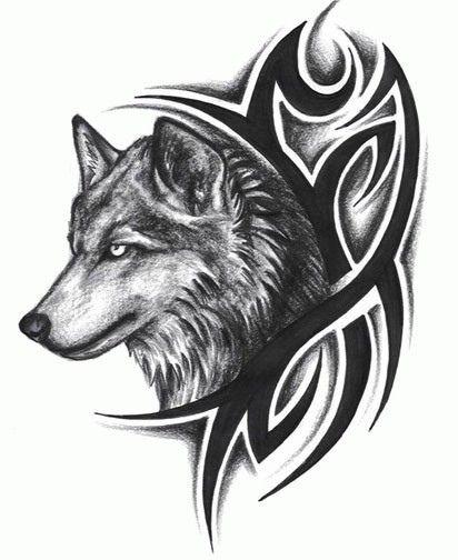 Free Design Wolf Tattoo 5 Tribal Wolf Tattoo Tribal Wolf Wolf Tattoo Design