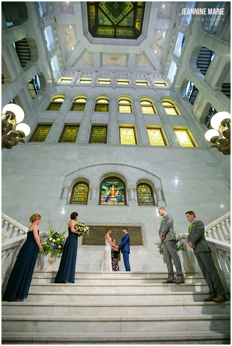 Wedding ceremony at Hennepin County Courthouse in
