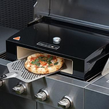create a pizza oven on your grill with the fully portable bakerstone pizza oven box