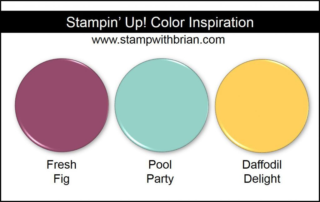 Stampin\u0027 Up! Color Inspiration Fresh Fig, Pool Party, Daffodil