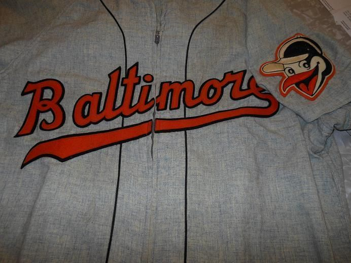 2ee1764eb3c Details about 1956 Baltimore Orioles Fred Besana Road Jersey  38 ...