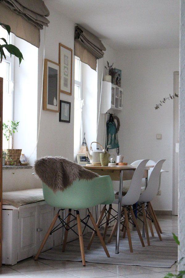 Winterküche | SoLebIch.de Foto: Blue Man Cole #solebich #esszimmer #ideen  #wandgestaltung #skandinavisch #grün #landhausstil #tisch #einrichtung U2026