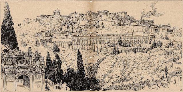 Das Pergamon Panorama Von 1886 Zeichnung Kunstausstellung Ausstellung Kunst