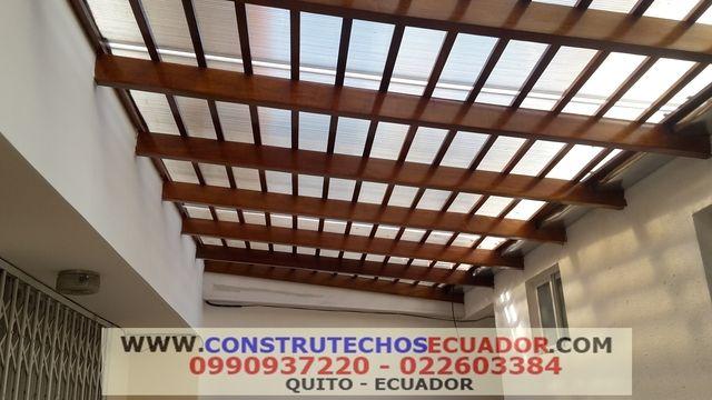 Pergolas en Aluminio Maderado, Madera Hierro Y Techos Corredizos - como decorar un techo de lamina