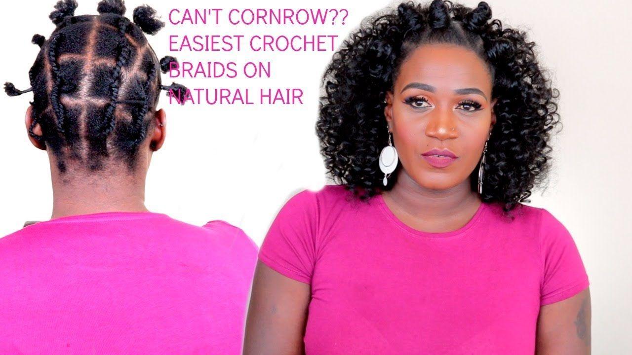 Natural Hair Styles Bantu Knots: EASY BANTU KNOTS & CROCHET BRAIDS ON NATURAL HAIR