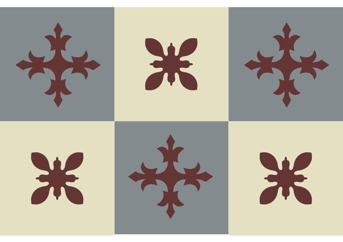 carreaux ciment Collection Les Floraux, ref. 332, chez Ateliers Zelij
