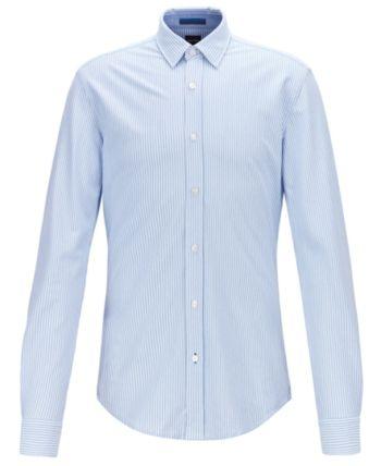 1f0edd900 BOSS Men's Ronni_53 Slim-Fit Striped Cotton Piqué Shirt in 2019 ...
