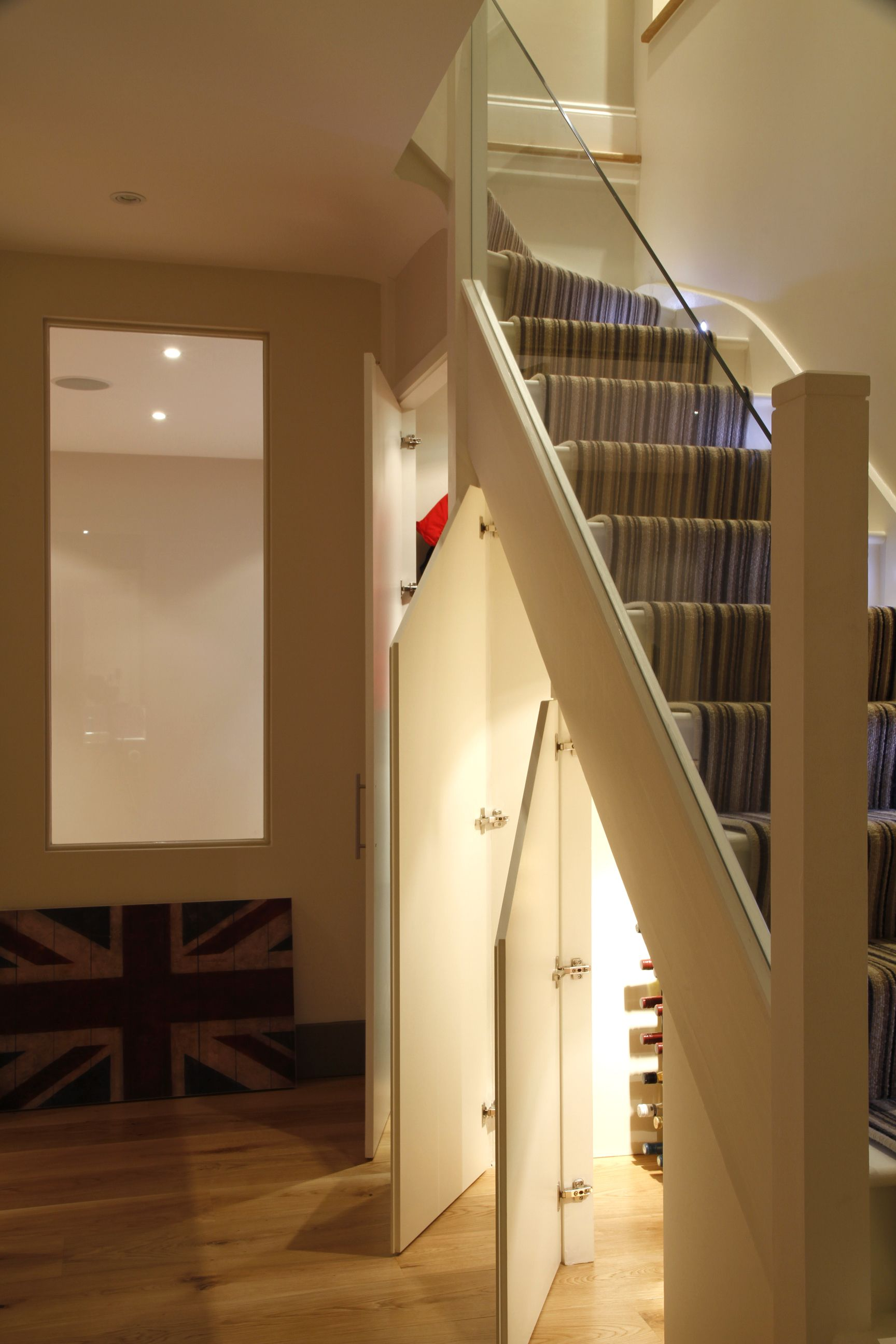 Basement Staircase, With Storage Below
