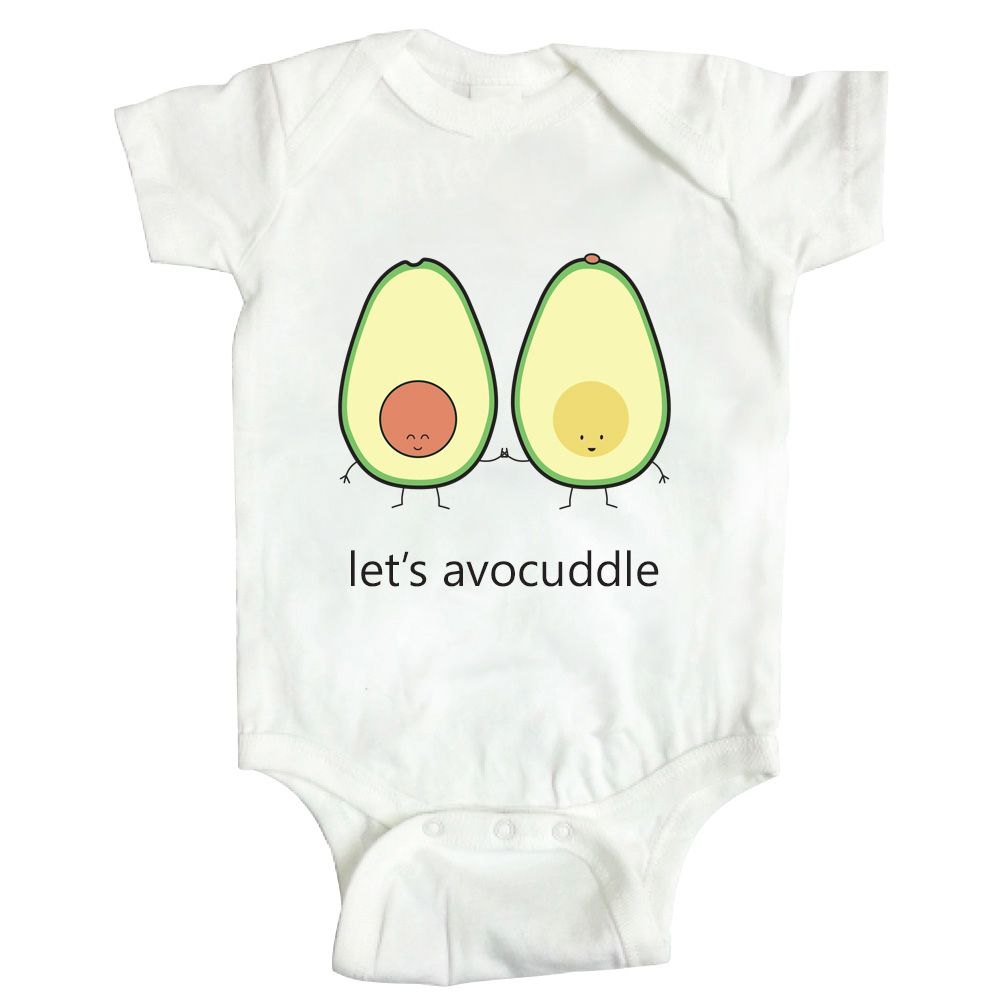 "625f65700 ""let's avocuddle"" onesie $30 cdn by queeniescards.com #baby #giftidea # avocado. """