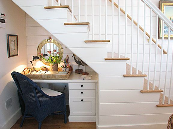 Small Desk1 Desk Under Stairs Stairs Design Stair Remodel