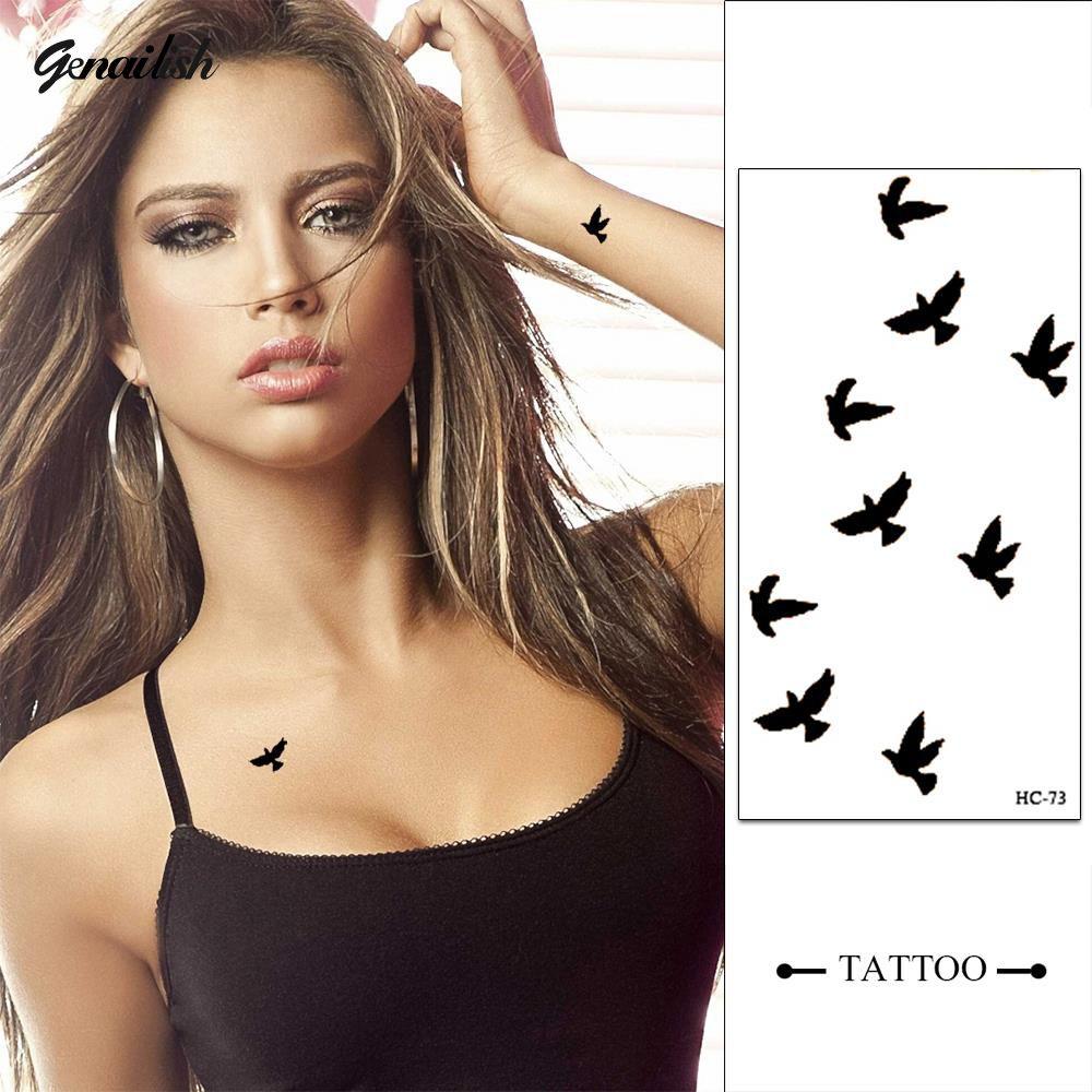 HC73-New Design Mode Temporäre Tattoo Aufkleber Wasserdicht Temporary Body art Tattoo Muster