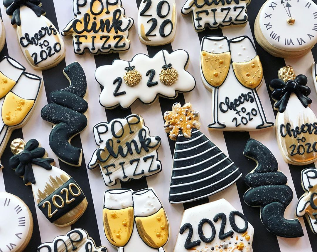 Pin by Meg Fink on New Years Cookies in 2020 Happy 70