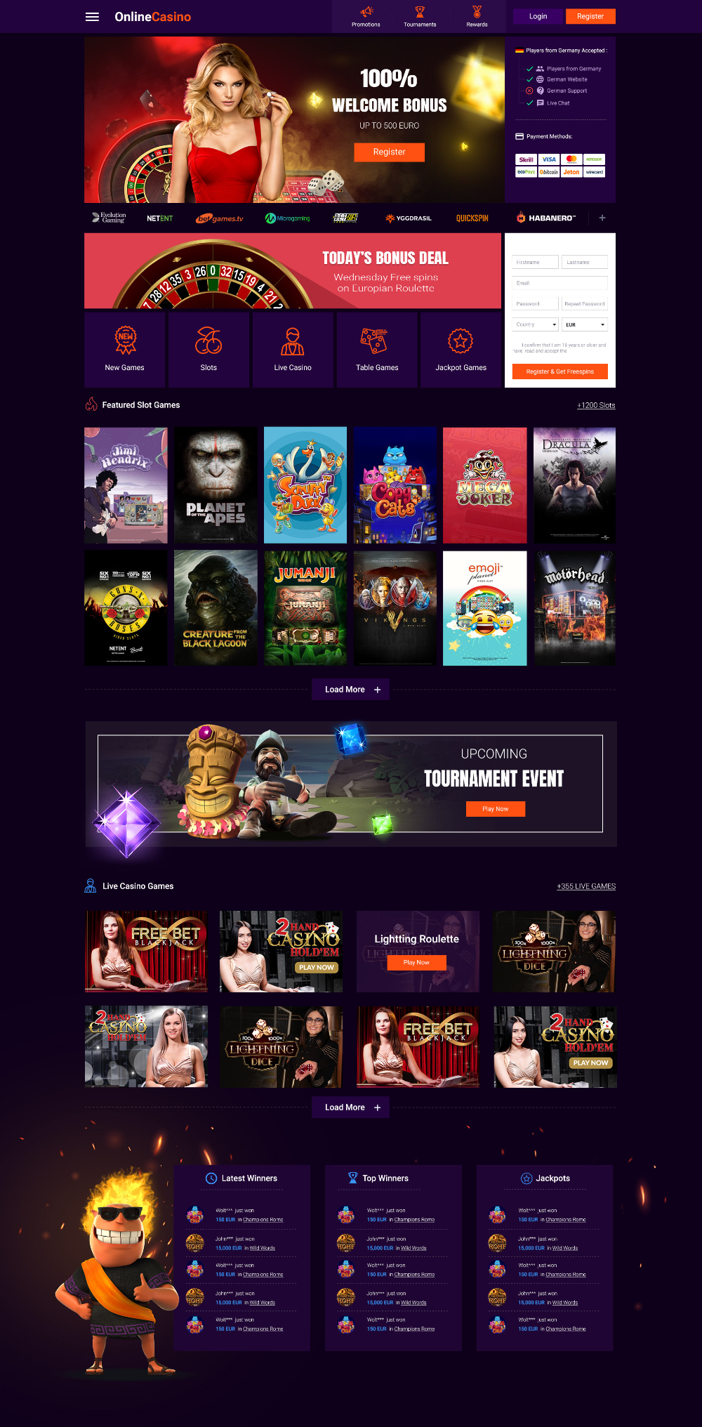Online Casino Landing on Behance Casino, Online casino