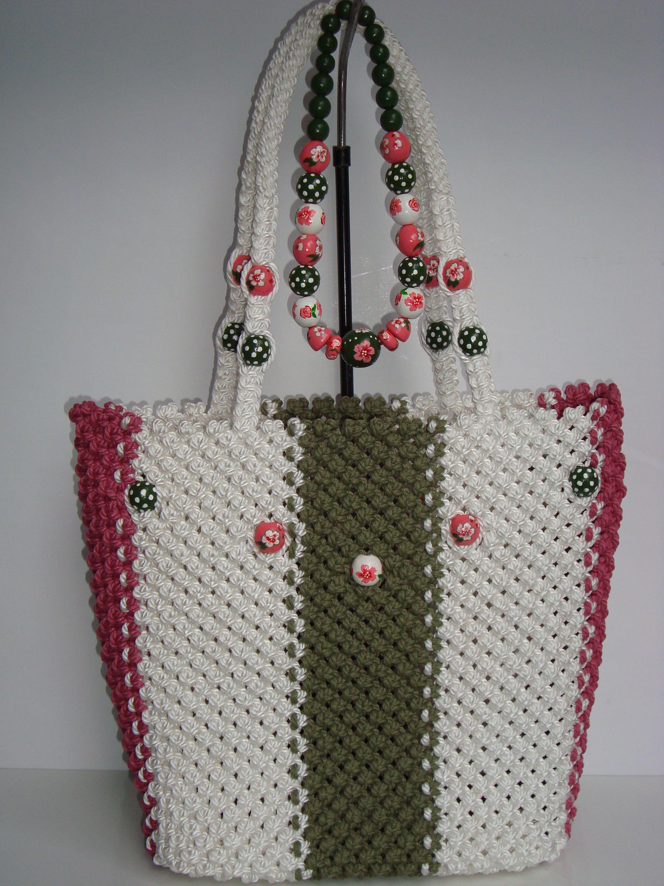 Macrame Bag Handmade Tote Purse Handbag Bricolaje Y