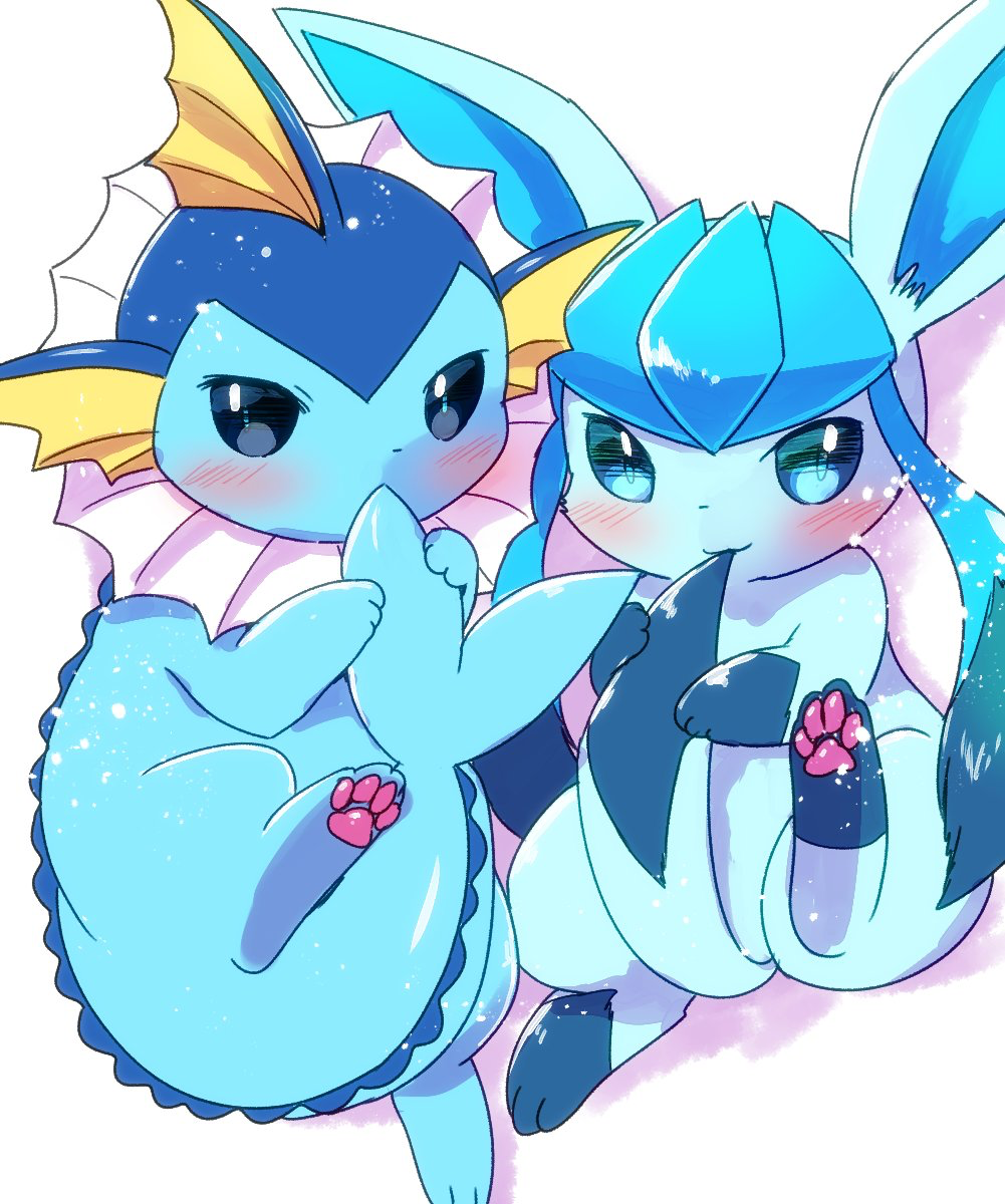 Vaporeon and Glaceon Love by Leafeon14 on DeviantArt |Vaporeon And Glaceon Wallpaper