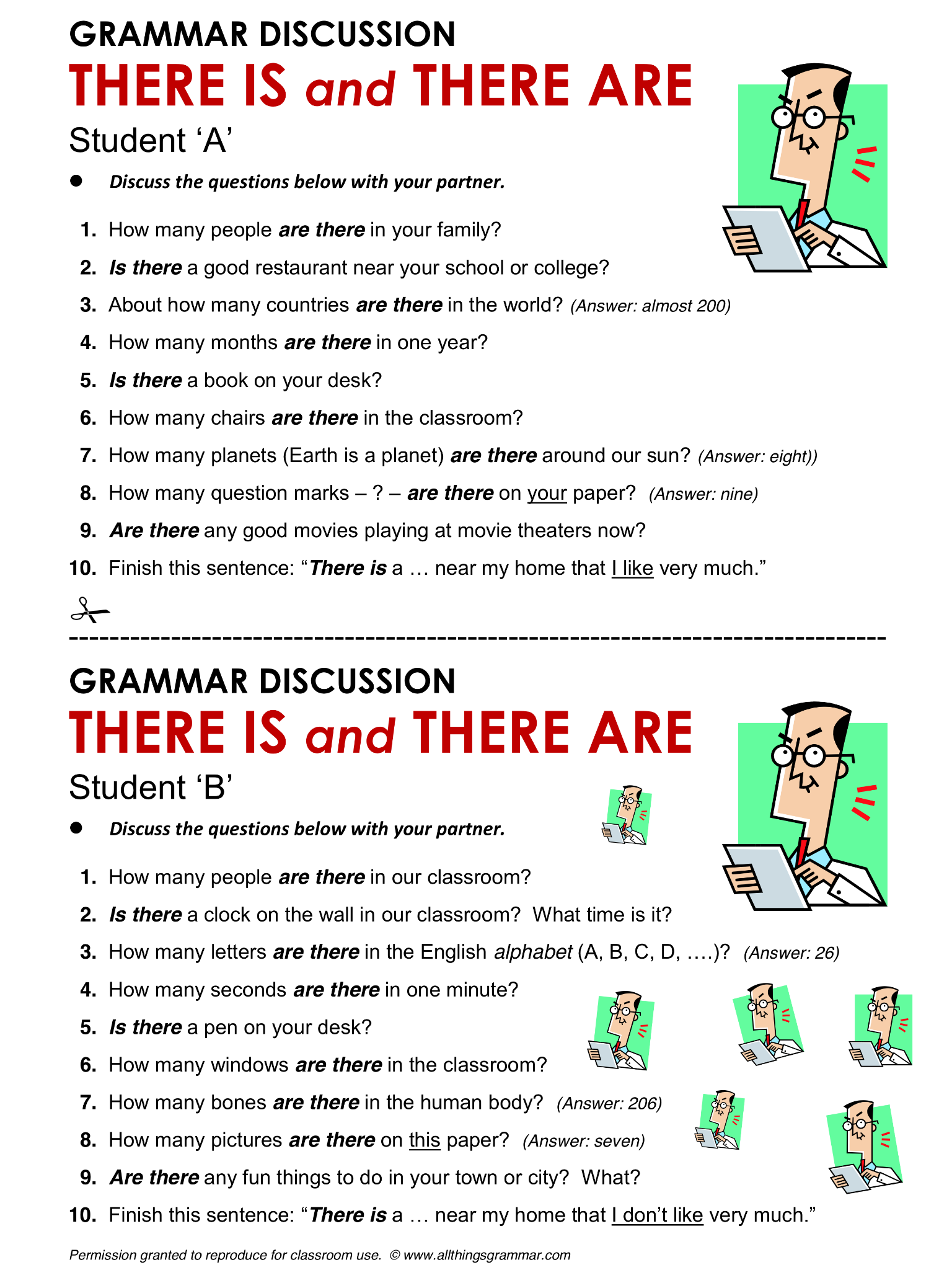 English Grammar There Is And There Are