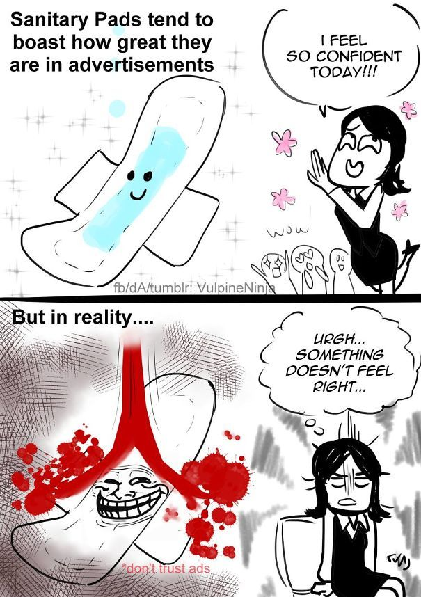 7 Comics About Periods That Only Women Would Understand Period Memes Funny Period Cramps Humor Period Humor