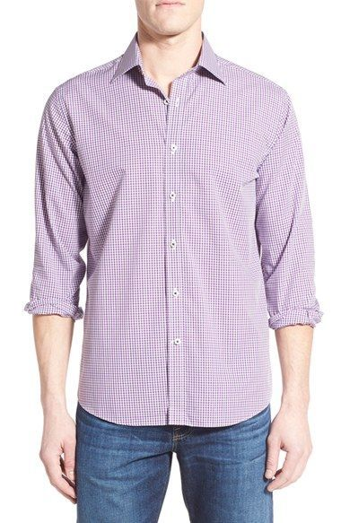 Maker & Company Tailored Fit Tattersall Sport Shirt
