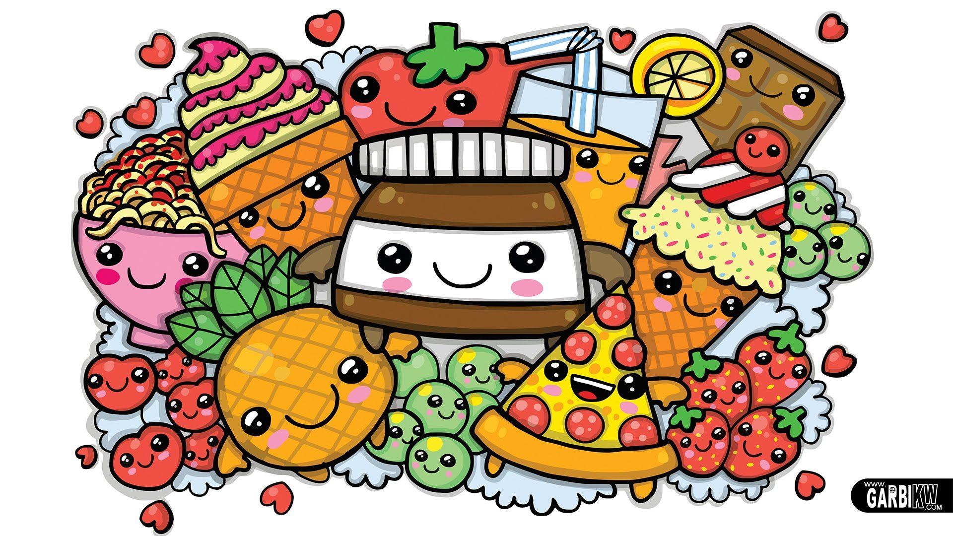 Coloring pages kawaii - Colouring A Cute Nutella And Kawaii Food Cute Graffiti By Garbi Kw