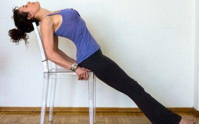 purvottanasana  chair yoga yoga images yoga backbend
