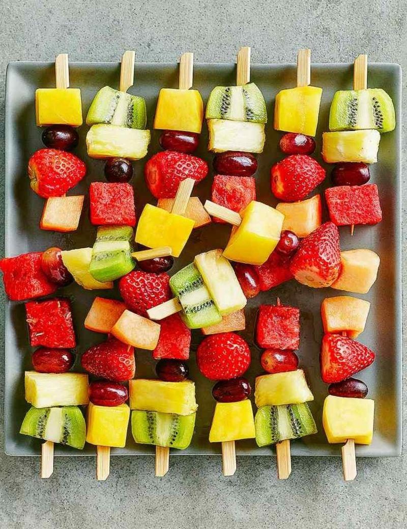Party Fingerfood Kindergeburtstag Gesunde Obst Spiessen Rezepte In