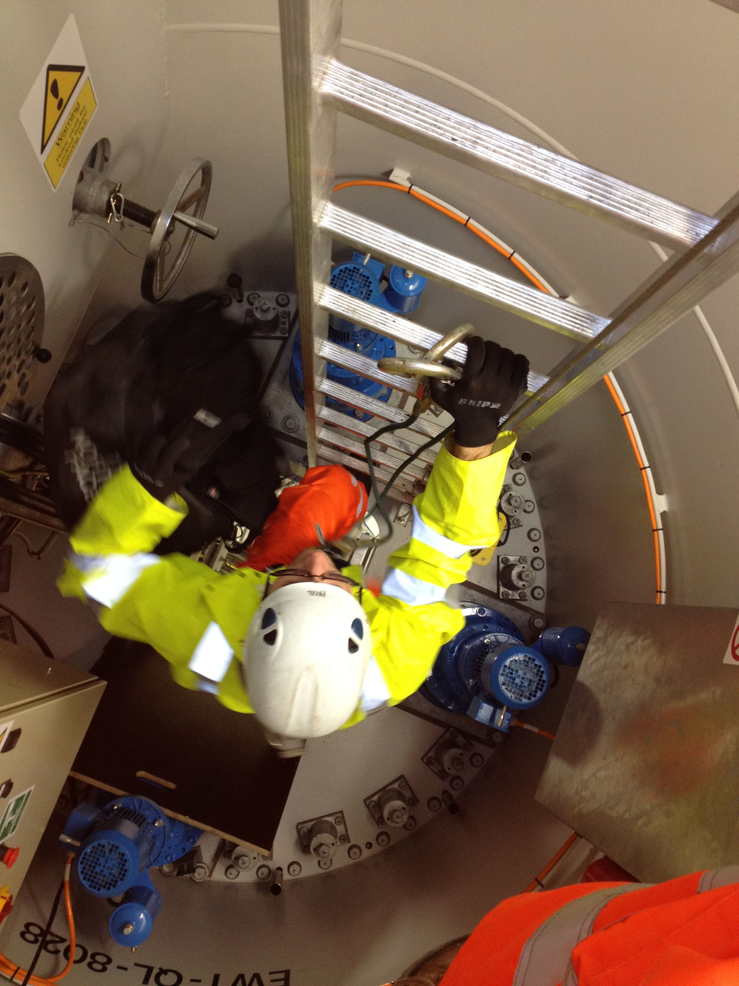 Specialist test & inspection service for wind turbines work at