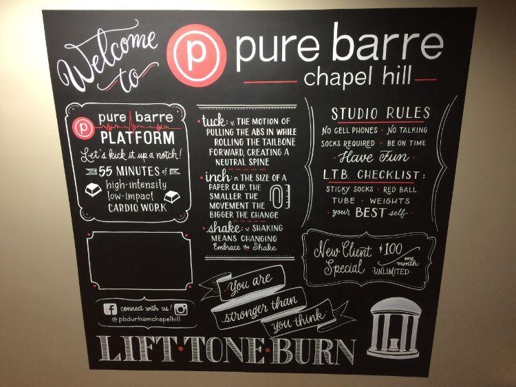 Custom designlayout for pure barre studio chapel hill
