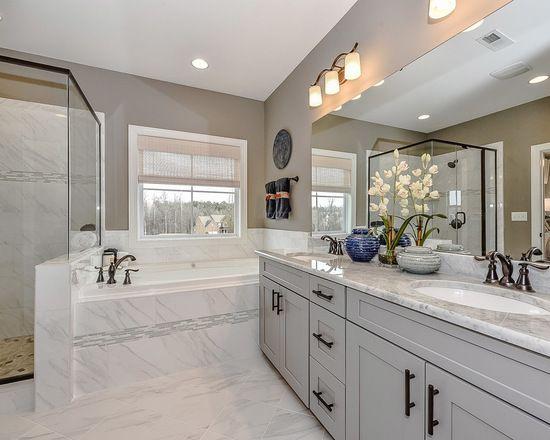 Oil Rubbed Bronze Shower Head Gray Bathroom Bathroom Design Ideas