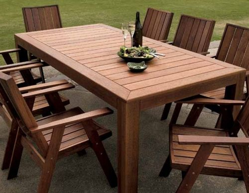 Garden Furniture Outlet kwila outdoor table and 8 chairs - home outlet | garden furniture