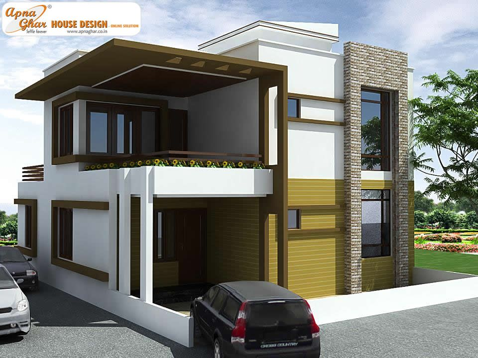 4 bedrooms duplex house design in 150m2 10m x 15m like for Modern duplex elevation