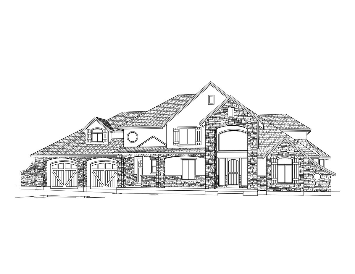 Amiens - 2 Story French Country style house plan - Walker Home ...