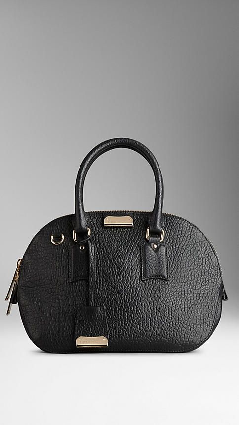 942faef21d51 Burberry Black The Small Orchard in Signature Grain Leather - Crafted from  textured signature grain leather