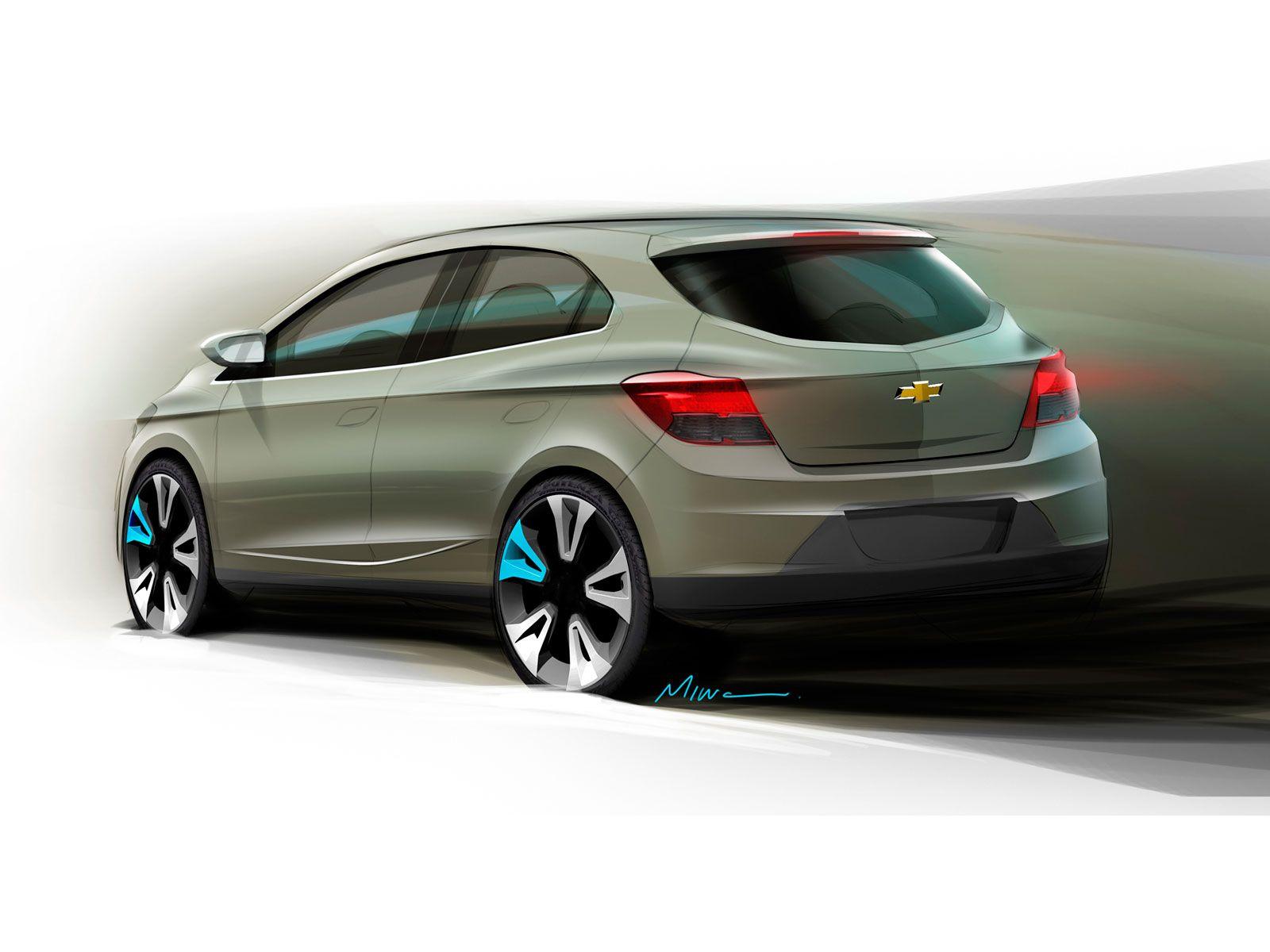 Chevrolet Onix Design Sketch Chevrolet Car Sketch Concept Cars