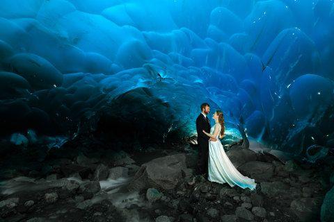 Unreal Photos of a Wedding Inside a Glacier - Weddings
