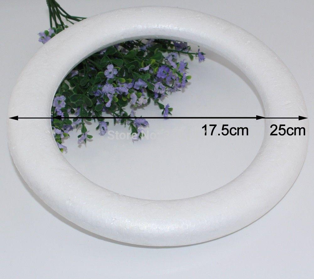 Foam ball craft - Free Shipping 25cm Round Circle Craft Foam Ball Natural White Styrofoam Diy Handmade Painted Ball
