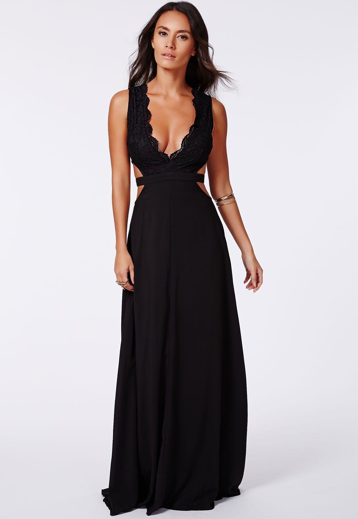 Dress black maxi