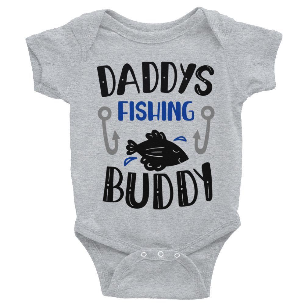 Crawl Walk Fish Baby Bodysuit Fishing Buddy New Baby Gift. Fishing Gift