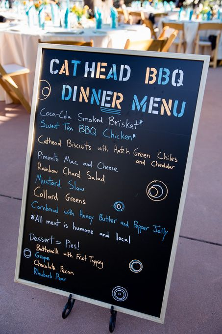 Cat Head BBQ Menu at the wedding