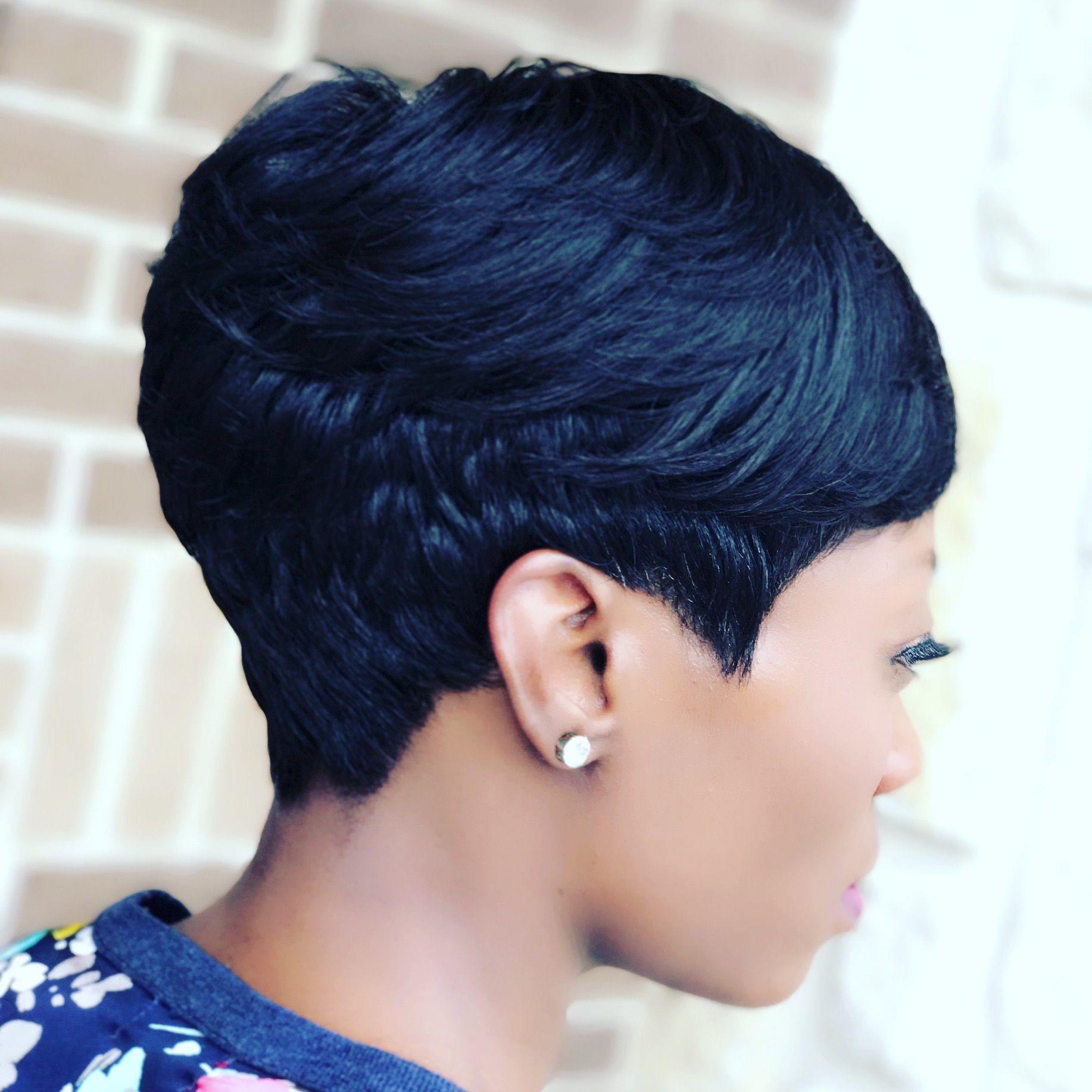 Dallas stylist short hair dontejeffery  Hair styles, Short permed