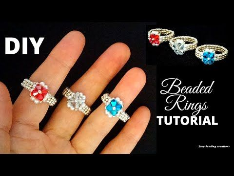 Photo of DIY 10 minutes gorgeous rings.  Easy pattern